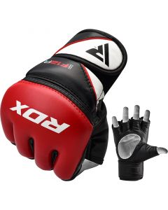 RDX F12 Small Red Leather X Training MMA Gloves