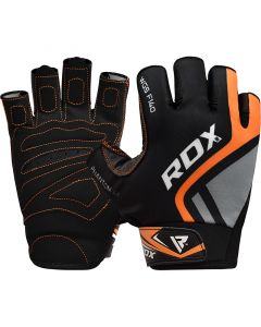 RDX F14 Small Orange Lycra Weight Lifting Gloves