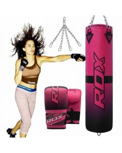 RDX F15 4ft Filled Punching Bag WIth Bag GLoves