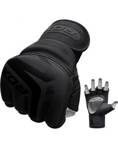 RDX F15 Noir  Small Black Leather X MMA Gloves
