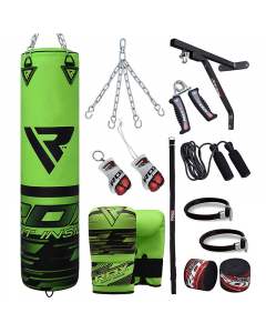 RDX F16 5ft 17pc Punch Bag Set