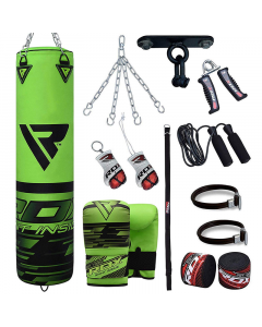 RDX F16 5ft Punch Bag Set