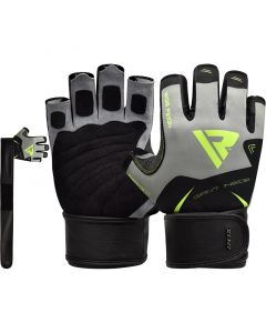 RDX F21 Small Green Lycra Gym Workout Gloves