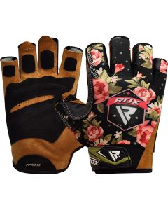 RDX F23 Small Black Lycra Gym Gloves