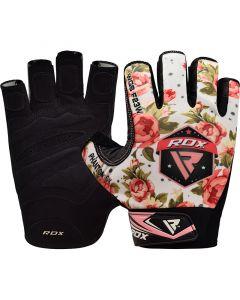 RDX F23 Small White Lycra Gym Gloves