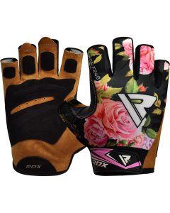 RDX F24 Small Black  Lycra Gym Workout Gloves