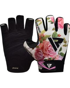 RDX F24 Small White Lycra Gym Workout Gloves