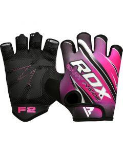 RDX F2 Small Pink Lycra Gym Workout Gloves