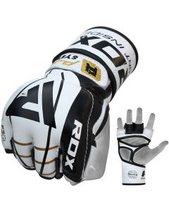RDX F3 Small Golden Leather MMA Gloves