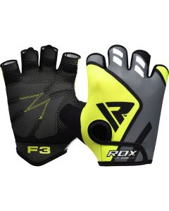 RDX F3 Green Small Lycra Weight Lifting Gloves