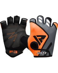 RDX F3 Orange Small Lycra Weight Lifting Gloves