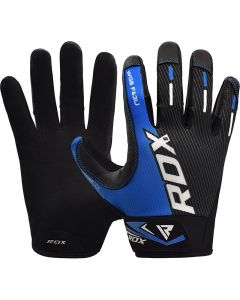 RDX F43 Small Blue Lycra Weight Lifting Gym Gloves
