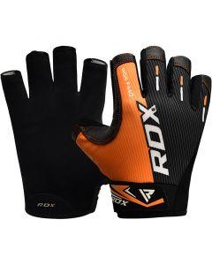 RDX F44 Small Orange Lycra Gym Workout Gloves