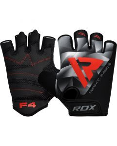 RDX F4 Bodybuilding Gym Gloves Grey Small