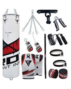 RDX  F7R 13pc Punching Bag With Mitts Filled 4 ft