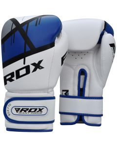 RDX F7 Ego 8oz Blue Leather X Boxing Gloves