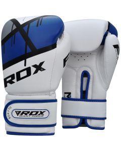 RDX F7 Ego 8oz Blue Leather X Boxing Gloves