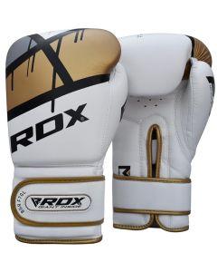 RDX F7 Ego 8oz Golden Leather X Boxing Gloves