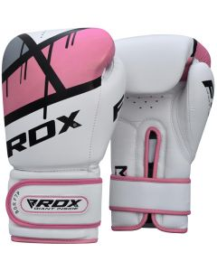 RDX F7P Ego 8oz Pink Leather X Boxing Gloves