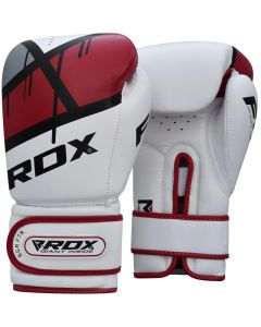 RDX F7 Ego 8oz Red Leather X Boxing Gloves