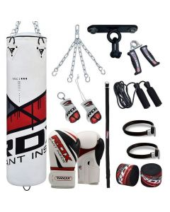 RDX 13pc F7 Punching Bag With Gloves Filled 4 ft 12oz