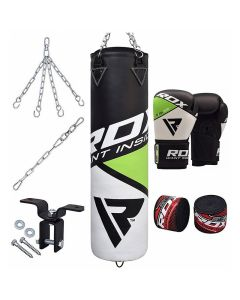 RDX FGN 8pc Punching Bag With Gloves Filled 4 ft 12oz