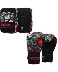 RDX FL3 8oz Ladies Focus pads With Boxing Gloves