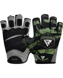RDX F11 Bodybuilding Gym Gloves Small Green