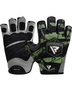 RDX F11 Small Green Lycra Bodybuilding Gym Gloves