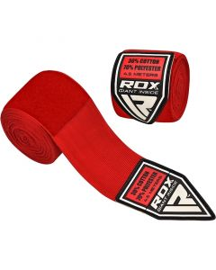 RDX 4.5m Elasticated Hand Wraps Red