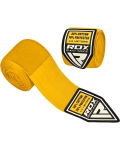 RDX 4.5m Yellow Polyester Elasticated Hand Wraps