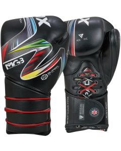 RDX Icon 5 Black 12oz Nova Tech Leather Boxing Sparring Gloves