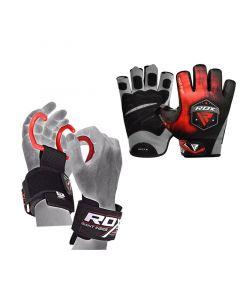 RDX F12 Luvas de Musculação Com Gancho Munhequeira