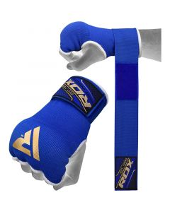 RDX 75cm Gel Inner Gloves with Wrist Strap Small Blue