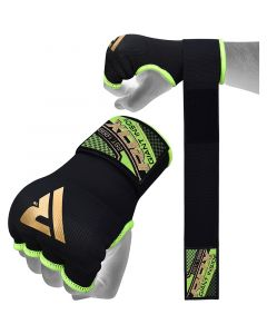 RDX 75cm Gel Inner Gloves with Wrist Strap Small Green