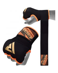 RDX 75cm Gel Inner Gloves with Wrist Strap Small Orange