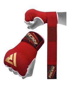 RDX 75cm Gel Inner Gloves with Wrist Strap Small Red