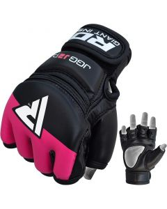 RDX J2 Pink Leather X MMA Grappling Gloves