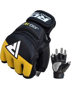 RDX J2 Yellow Leather X MMA Grappling Gloves