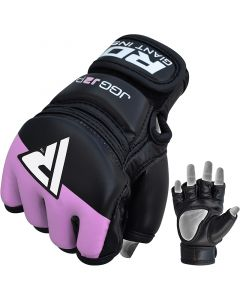 RDX J2 Purple Leather X MMA Grappling Gloves