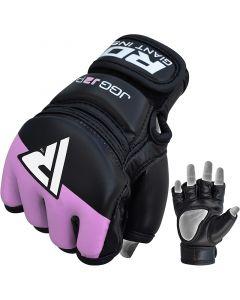 RDX J2 Purple Leather X MMA Grappling Gloves