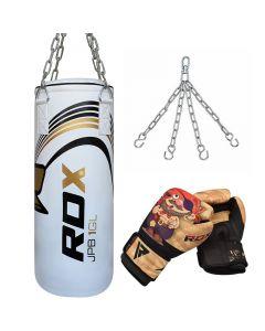 RDX Kids 2ft Filled Punch Bag & Gloves Set