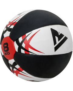 RDX KW 5Kg White LeatherX Medicine Ball