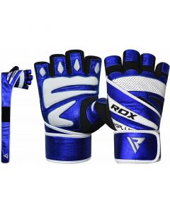 RDX L10 Small Blue Leather Gym Gloves