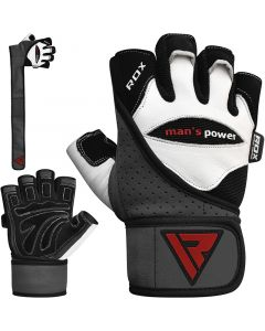 RDX L1 Leather Gym Gloves Small