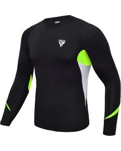 RDX L3 Small Green Compression Rash Guard
