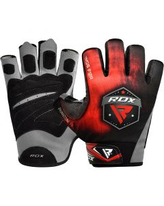 RDX F12 Weightlifting Gym Gloves Red Small