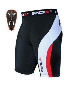 RDX MB Small Orange Neoprene Groin Guard & Thermal Compression Shorts