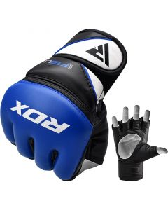 RDX F12 Small Blue Leather X Training MMA Gloves