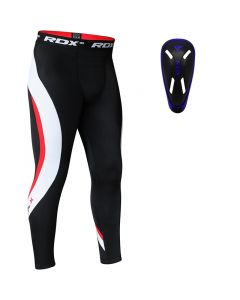 RDX MO Compression Flex Trouser & Groin Cup Blue Small